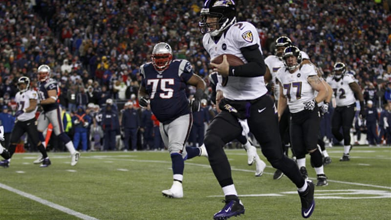 The Baltimore Ravens won their AFC title rematch against the New England Patriots, booking their spot in the Super Bowl against the San Francisco 49ers [Reuters]