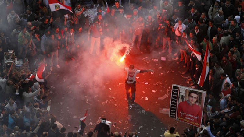 Many Egyptians now celebrate on February 11, the date when Mubarak stepped down as president [AFP]