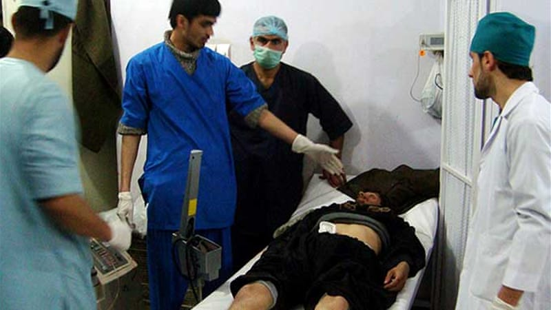 Almost 18 people, mostly civilians, were wounded in a suicide attack in the northeast Afghan city of Kunduz [AFP]