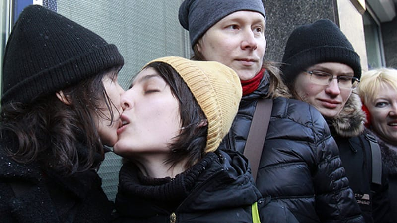 Russia's gay community has been subject to a series of laws banning open expression of their sexuality [GALLO/GETTY]