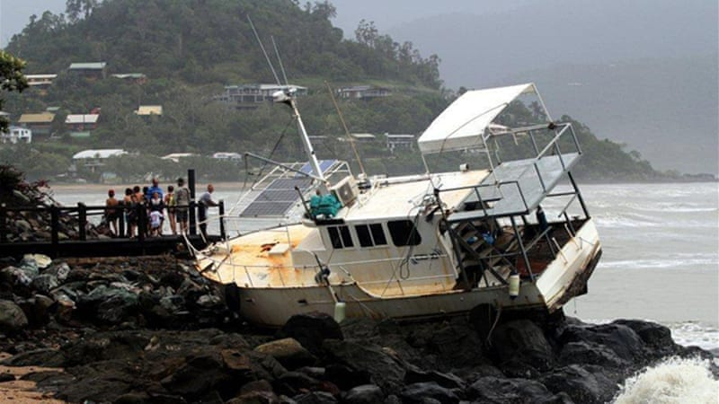 The towns of Bargara and Burnett Heads were declared disaster areas following the tornadoes [Reuters]