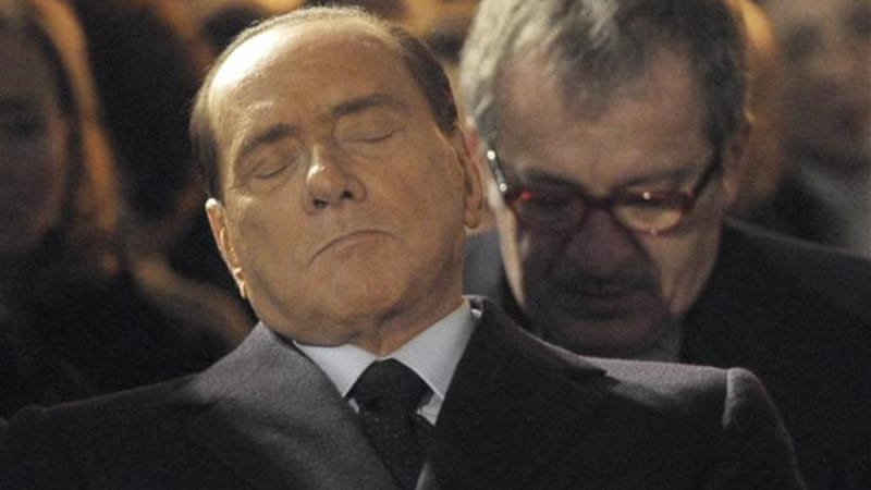 "Berlusconi said passing racial laws were the worst fault of Mussolini, ""who in so many other ways did well"" [AP]"