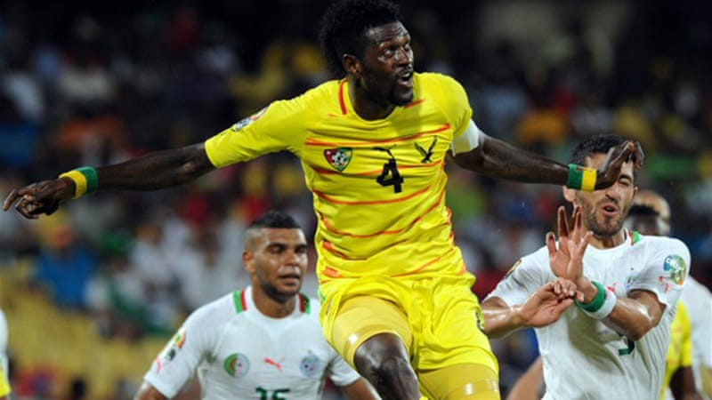 Adebayor scored his first goal of the tournament in Togo's 2-0 win over Algeria last weekend [AFP]