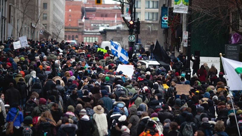 Protests took place across Canada to mark International Human Rights Day last December 10 [Al Jazeera/Thien V]