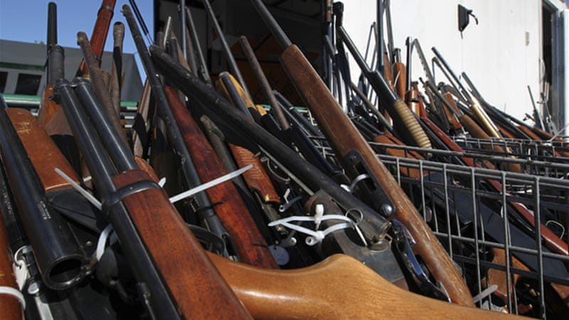 It is Obama's 'rather typical embrace of Reaganite gun policy' that is enfuriating 'constitutional conservatives' [AFP]