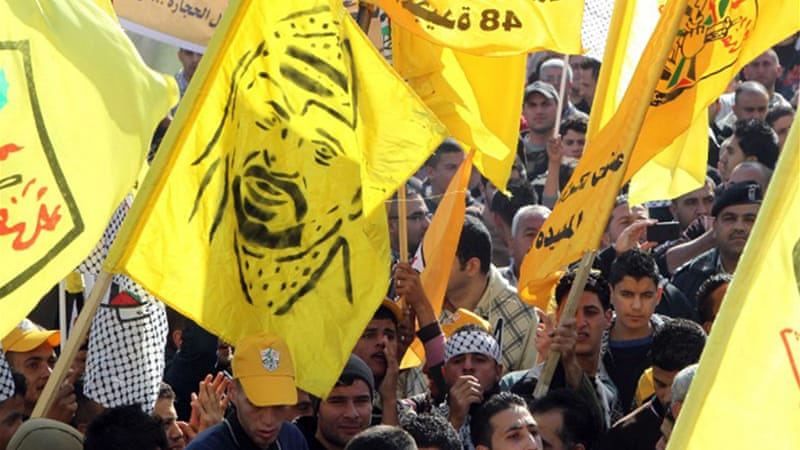 Fatah has not been allowed to organise rallies in Gaza since Hamas ousted Fatah's forces five years ago [AFP]