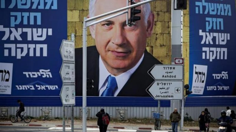 General elections in Israel are scheduled for January 22 and Netanyahu is tipped to be re-elected [AP]