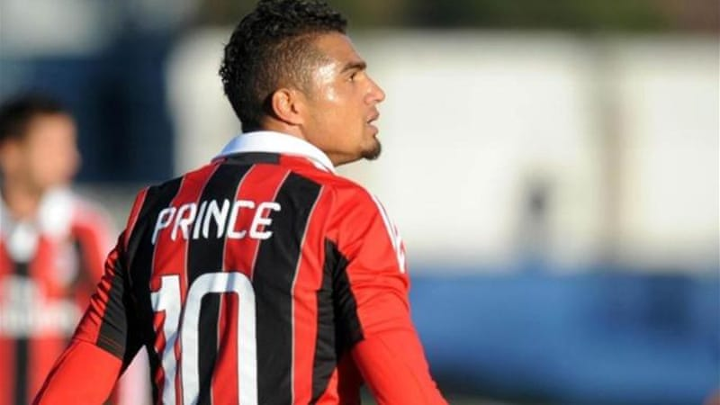 Kevin-Prince Boateng led AC Milan off the pitch after racist abuse from Pro Patria fans [EPA]