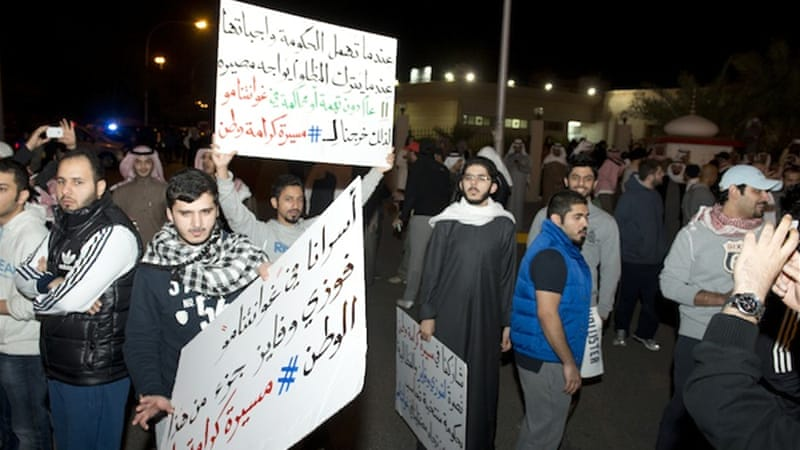 Kuwait has seen a number of political protests in recent months, including one on Sunday night [Reuters]