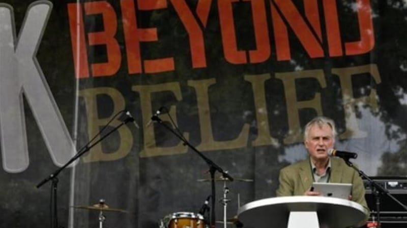 "Professor Richard Dawkins insists on evidence and says that there is no ""evidence"" for God [AP]"
