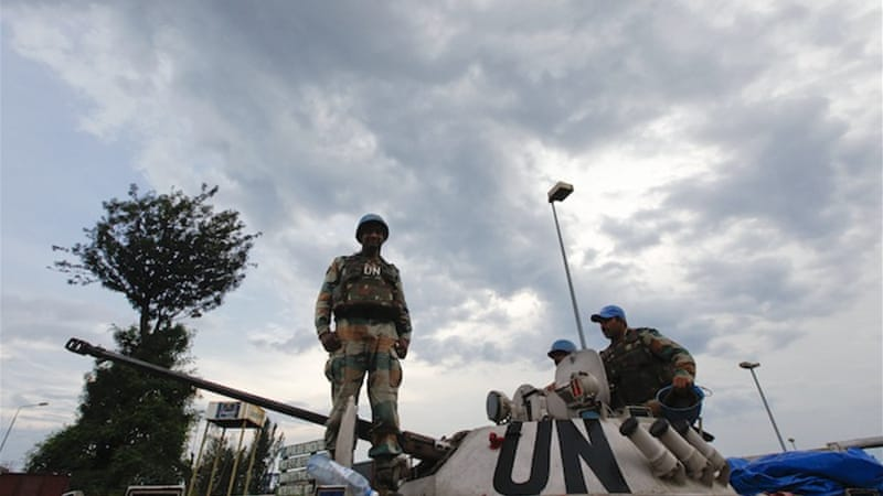 The UN's 17,000-man peacekeeping force is spread thinly across the vast DR Congo [EPA]