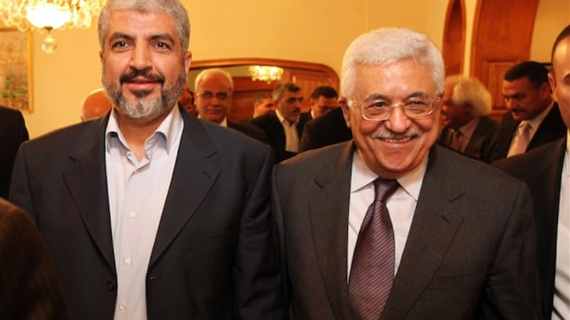 The Palestinian leaders will discuss the terms of a long-delayed reconciliation agreement [EPA]