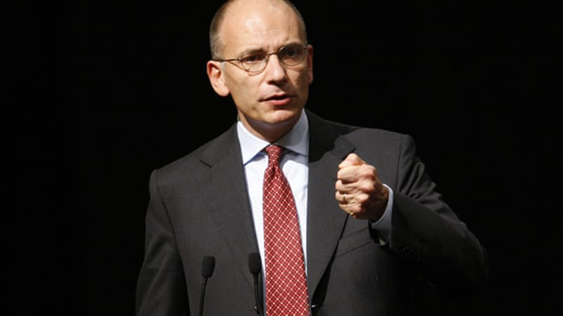 Letta rejected the resignations of five ministers on Tuesday, a sign he values the PDL's backing [Reuters]