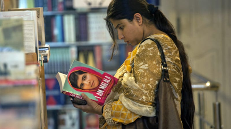Malala Yousufzai's book is still freely available in most Pakistani bookshops [Reuters]