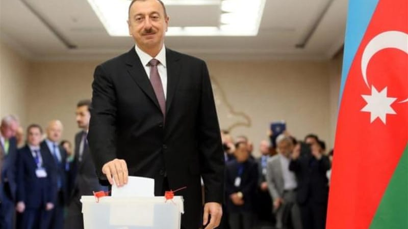 Aliyev won a third five-year term with nearly 85 percent of the vote, according to official results [EPA]