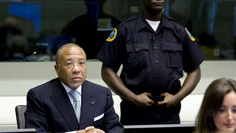 As president from 1997 to 2003, Taylor supplied guns and ammunition to rebels in neighbouring Sierra Leone [AFP]