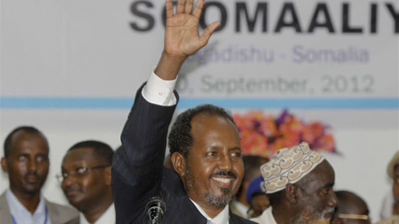 """The struggle against extremism needs to take place on the broadest possible front, from the parched Somali desert to flourishing American cities, from mosques to internet chat forums"", argues Somalia's president [AP]"