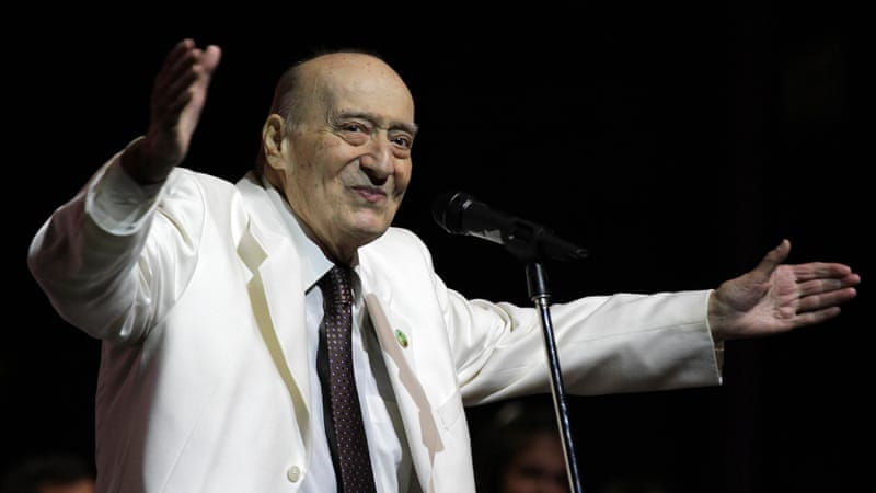 "Lebanese singer Wadih al-Safi was known as throughout the Arab world as ""the man with the golden voice"" [AFP]"