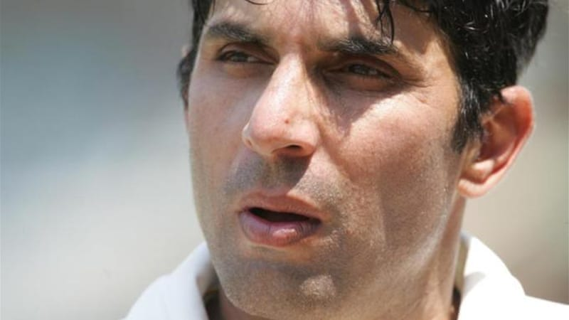 Captain Misbah-ul-Haq scored a first-innings century and hit the winning six for Pakistan [AFP]