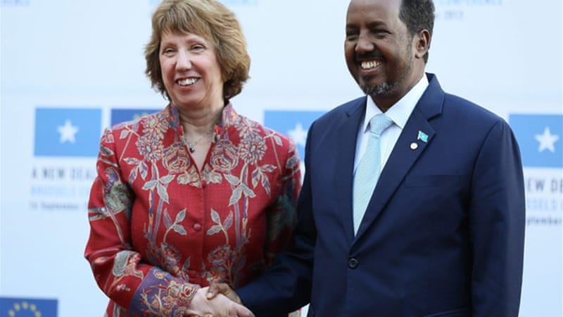 The West needs to rethink its aid package and gear it more towards making Somalia capable of being responsible for its own economy and security, writes Samatar [EPA]