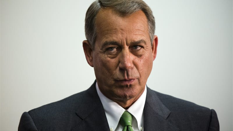 Speaker of the US House of Representatives, John Boehner, is a key player in the current political impasse [EPA]