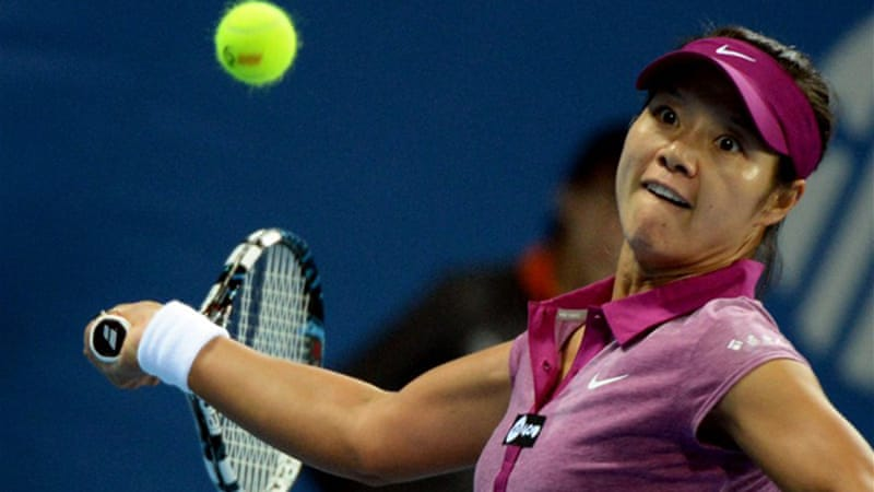 Home favourite Li Na kept alive hopes of a first Chinese champion after beating Sabine Lisicki [AFP]