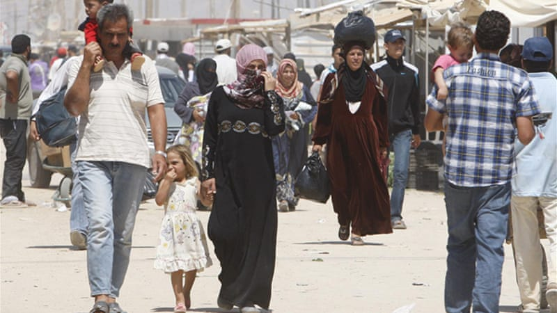 Jordan is hosting around 550,000 Syrian refugees, mostly in the north, including in the Zaatari refugee camp [EPA]