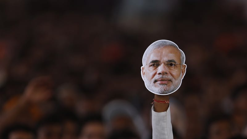 As a child, Narendra Modi helped his father to sell tea to railway passengers in Gujarat [Al Jazeera]