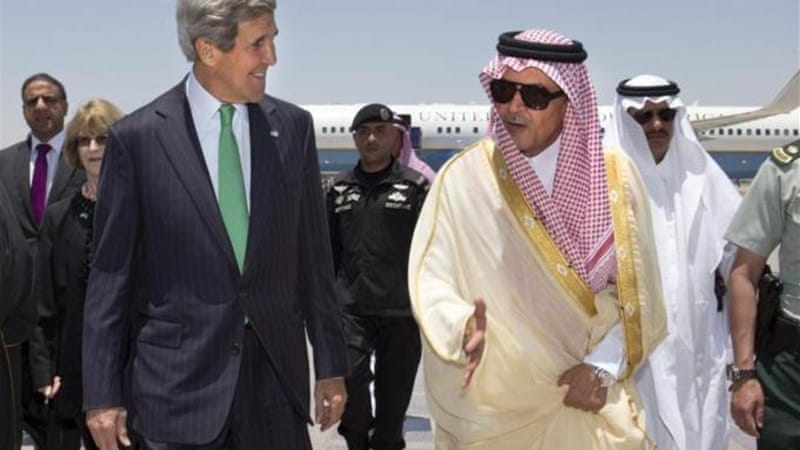 Kerry's Riyadh visit follows a spate of unusually public complaints from members of the Saudi ruling family [Reuters]