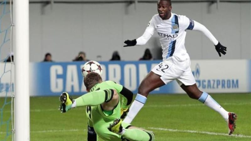 Yaya Toure was subjected to monkey chants during City's Champions League clash with CSKA [AP]