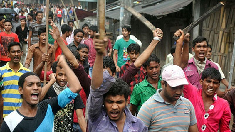 Bangladesh has witnessed violent street protests that have left 18 people dead in the last two weeks [Reuters]
