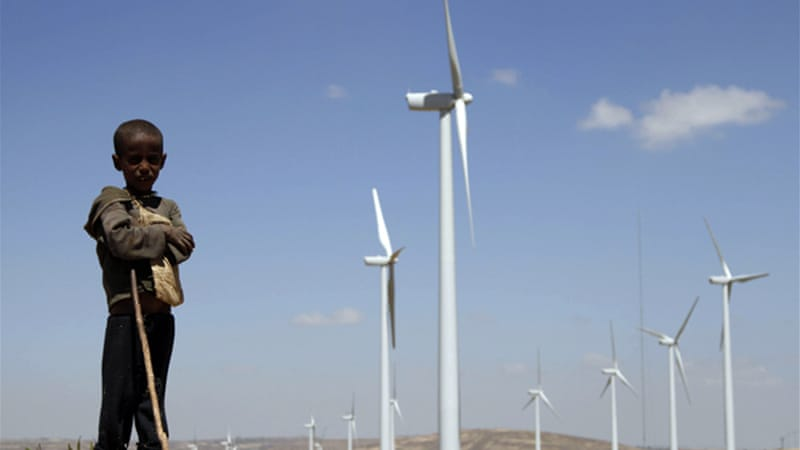 Ashegoda Wind Farm is expected to ease Ethiopia's dependence on hydropower [Reuters]