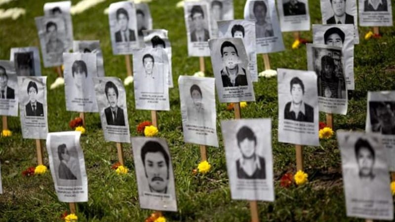 """Most of the 15,000 disappeared remain missing, and their family members are in anguish about their fate, and are waiting to bury their bodies,"" writes Jo-Marie Burt  [AP]"