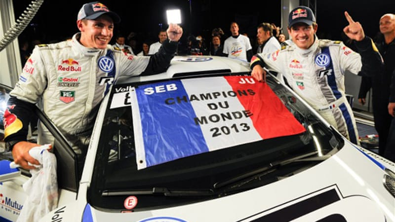 Ogier started the race with an 83-point championship lead over second-placed Neuville [AFP]