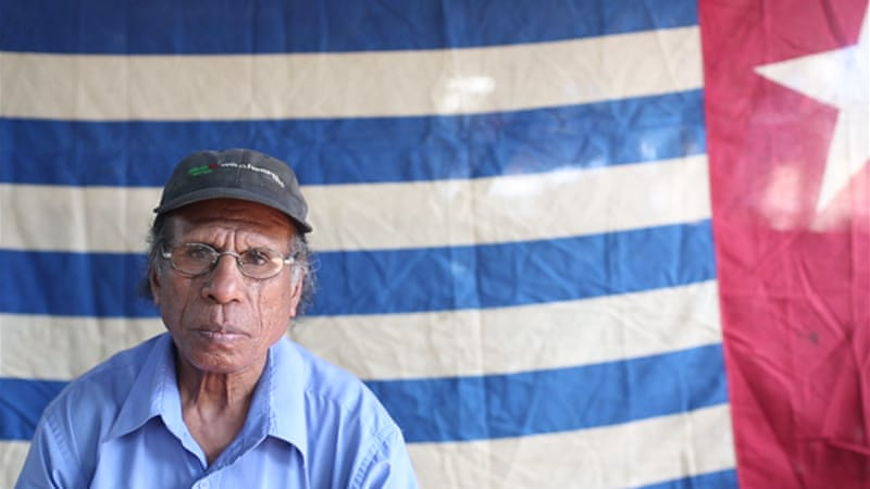 Freddy Warome, one of the 'self-indulgent' activists who supports West Papuan independence from afar, after seeking asylum in neighbouring Papua New Guinea [Philippe Schneider/Al Jazeera]