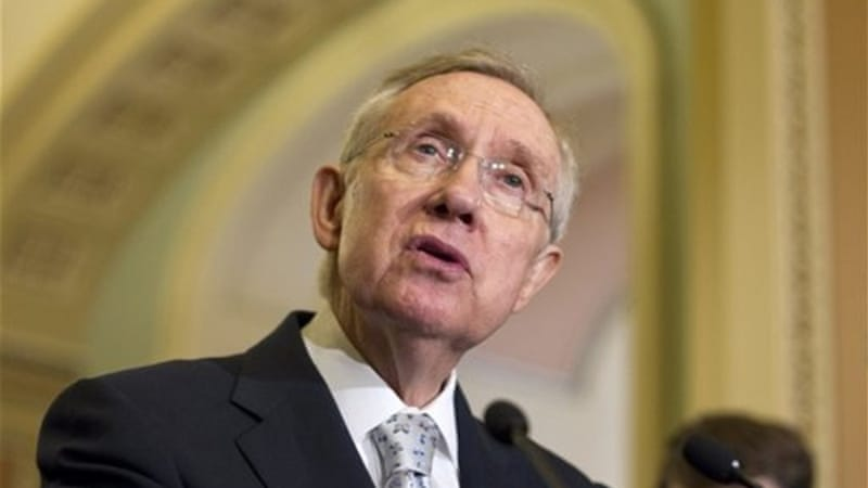 Senate majority leader Harry Reid (D) sent a letter to House majority leader John Boehner (R) pleading him to end the partial US government shutdown [AP]