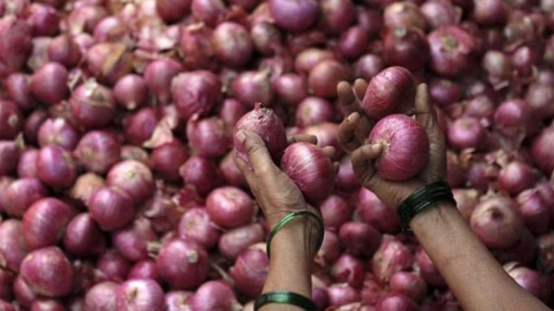 Retail prices of politically sensitive onions have risen four times in the last three months [EPA]