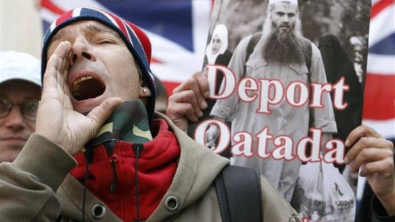 UK Home Secretary Theresa May, unable to  prove any of the terror allegations against radical Islamist Abu Qatada, tried to deport him for being 'undesirable'  [Reuters]
