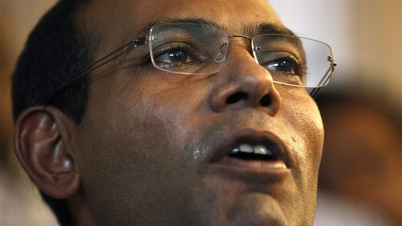 Nasheed secured more than 45 percent of the first round votes but fell short of the 50 percent needed [Reuters]
