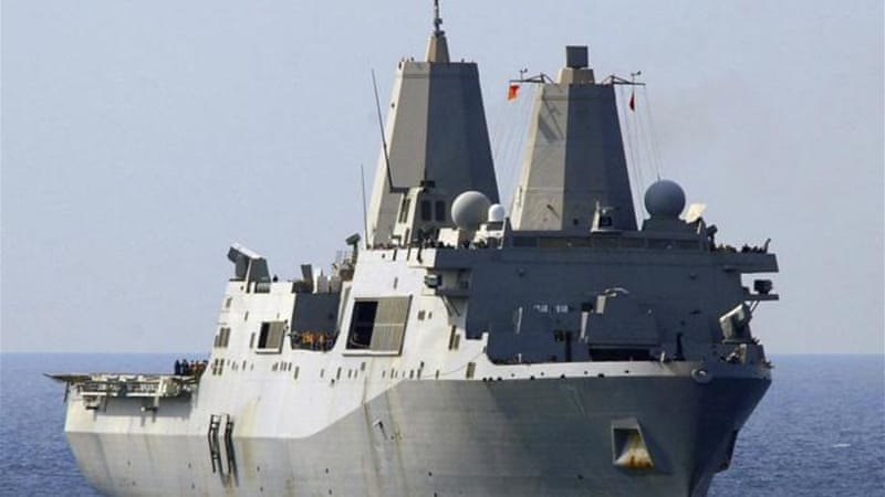 The amphibious transport dock ship USS San Antonio currently patrols the Mediterranean Sea [Reuters]