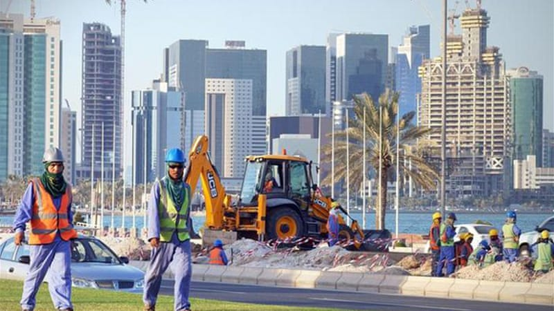 A Qatari official said the exit-permits system protected workers from 'bad sponsors'  [Sorin Furcoi/Al Jazeera]