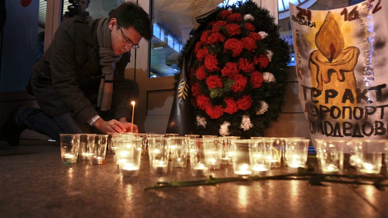 The January 2011 attack on Moscow's Domodedovo airport killed 37 people.