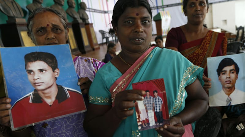 Ethnic Tamils accuse the Sri Lankan government of continuing human rights abuses since the conflict ended in 2009 [AP]