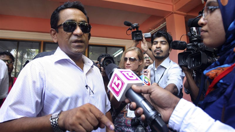 Abdulla Yameen is a half-brother of Maumoon Abdul who ruled Maldives for 30 years  [Reuters]