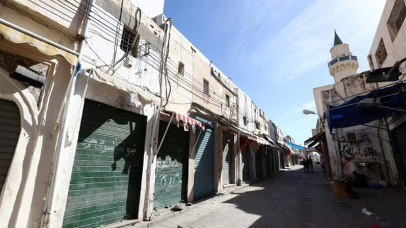 Authorities in Tripoli announced the general strike in response to the violent clashes [AFP]