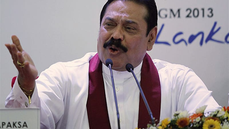 Sri Lanka's President Mahinda Rajapaksa has taken a hard-line against the Tamil minorities [Reuters]