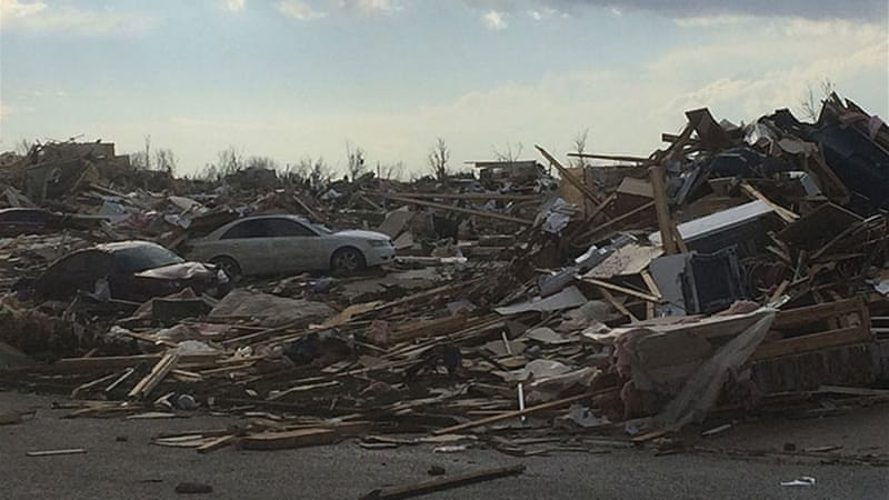 "The city of Washington, Illinois, was hit hard by a ""large and extremely dangerous"" tornado [Reuters]"