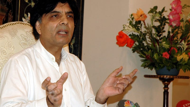 Interior Minister Chaudhry Nisar Ali Khan said that the decision had been taken in the national interest [EPA]