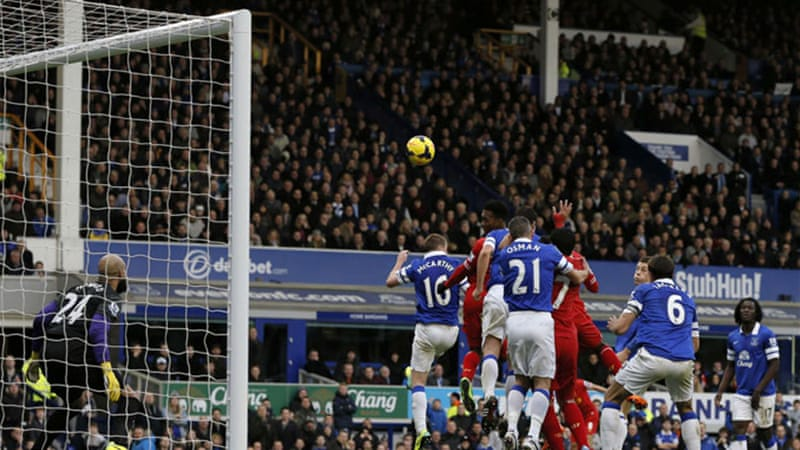 Daniel Sturridge scored in the 89th minute for Liverpool at Goodison Park in the Merseyside derby [Reuters]