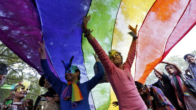 The LGBT community in India reacted angrily to the recent ruling banning gay sex  [Reuters]